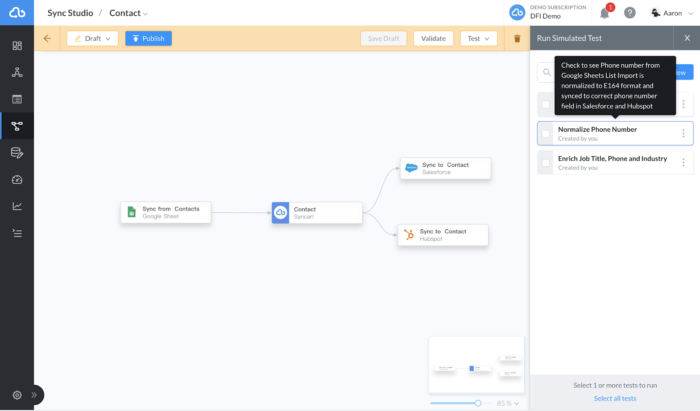 Syncari Product Test Pipelines